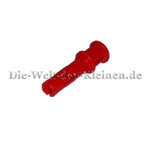 LEGO® Technic Long Pin 3L with Friction Ridges Lengthwise, cross hole and Stop Bush RED (RED) - (4140806/32054)
