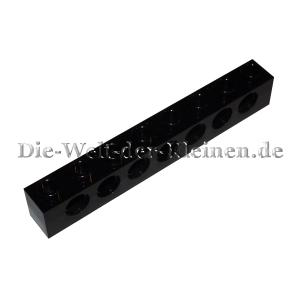 LEGO® Technic Brick 1x8 with 7 hole black (BLACK) - (370226/3702) Top