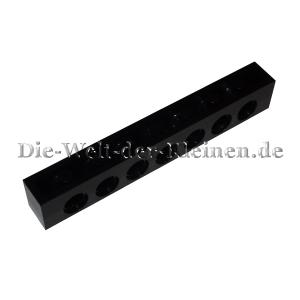 LEGO® Technic Brick 1x8 with 7 hole black (BLACK) - (370226/3702) Bottom