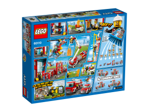 LEGO City 60110 Fire Station box rearsite