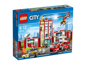 LEGO City 60110 Fire Station box frontsite