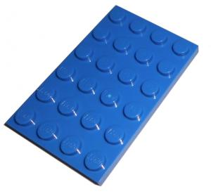 LEGO® Plate 4x6 with Knobs bright blue (BR. Blue) - USED (303223)