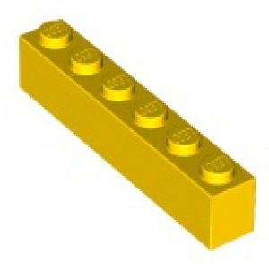 LEGO® Brick 1x6 Bright Yellow - USED (300924)