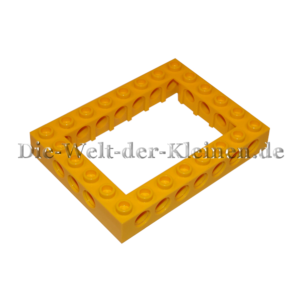 Lego Technic Hole Brick Box Construction Frame 6x8 20 Hole 24 Knobs Bright Yellow Bright Yellow 416289940345