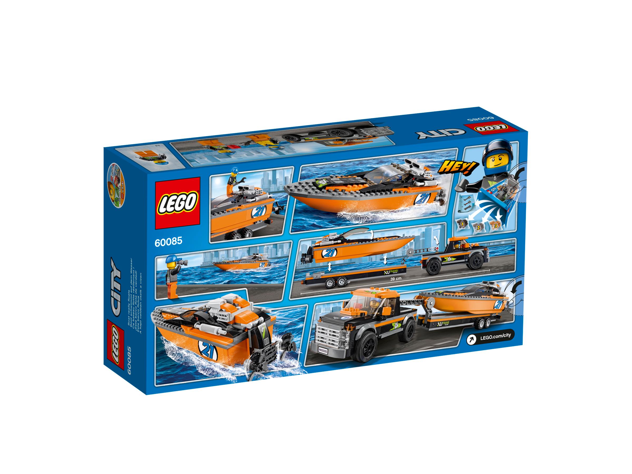 LEGO City Allradfahrzeug mit Powerboot 60085