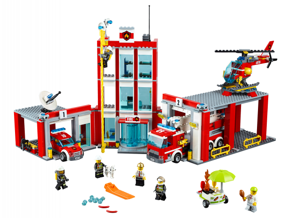 LEGO City 60110 Fire Station builded